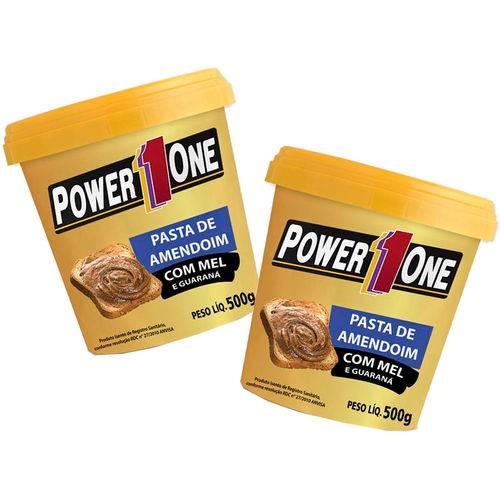 Kit 2 Pasta de Amendoim Crocante Integral 1kg Power One