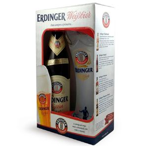 Kit Presenteável Erdinger - 1 Garrafa + Copo