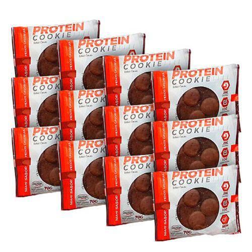 Kit Protein Cookie (kit C/12 Cookies Sabor Cacau) - Protein Tech