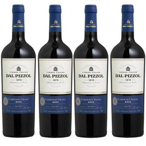 Kit Vinho Dal Pizzol Cabernet Franc 4 Garrafas