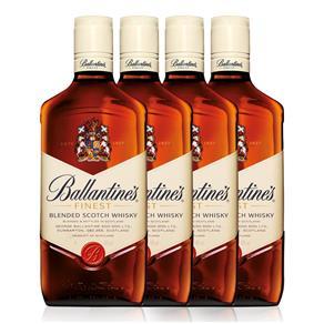 Kit Whisky Ballantine`s Finest 1L - 4 Unidades