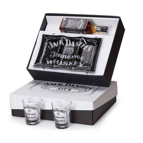 Kit Whisky Jack Daniel's 375ml + Petisqueira Personalizada + 2 Copos (SQ16152)