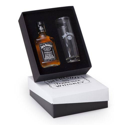 Kit Whisky Jack Daniel's 200ml + 1 Copo Long Drink Personalizado (SQ14238)