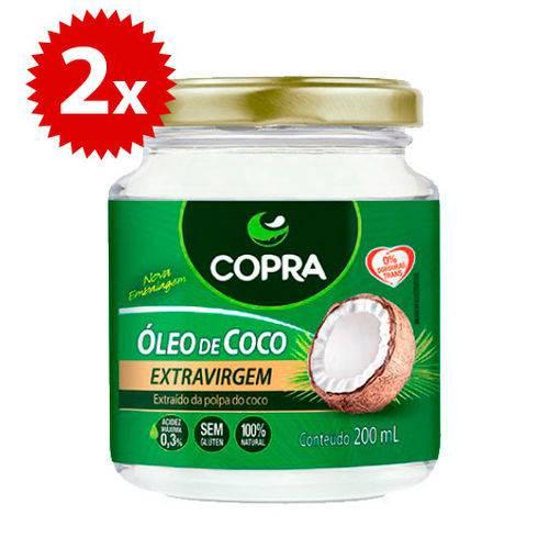 Kit 2x Oleo de Coco Extra Virgem 200ml Copra