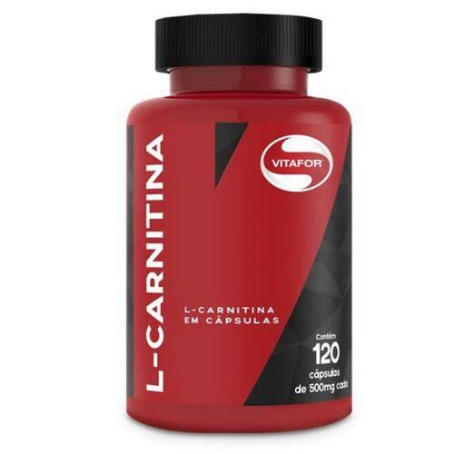 L-Carnitina em Pó - Emagrecedor - Vitafor - Contém 120 Cápsulas