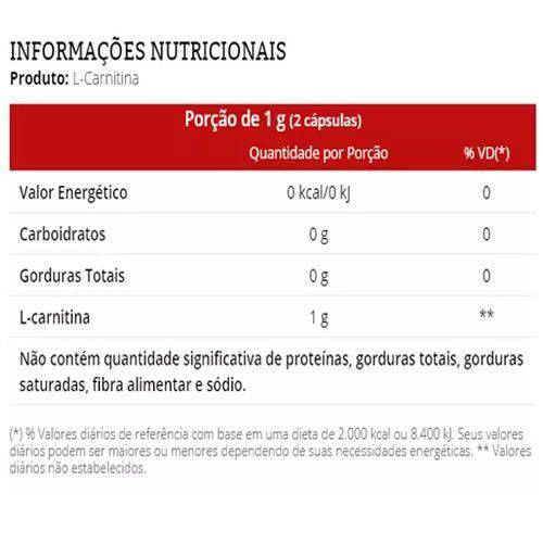 L-Carnitina - 60 Cápsulas - Vitafor