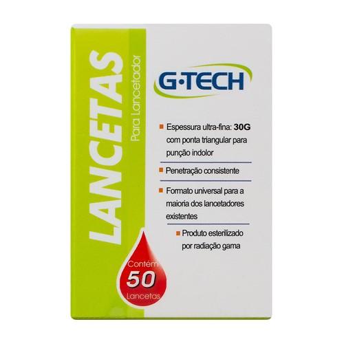 Lancetas G-Tech 30G 50 Unidades