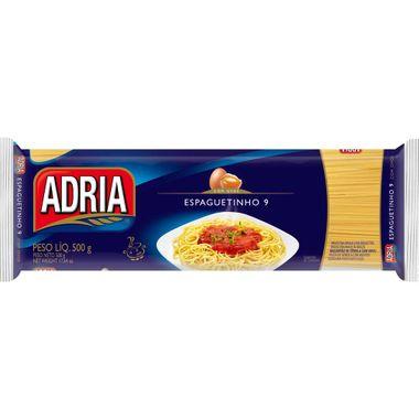 Macarrão com Ovos Espaguetinho 9 Adria 500g