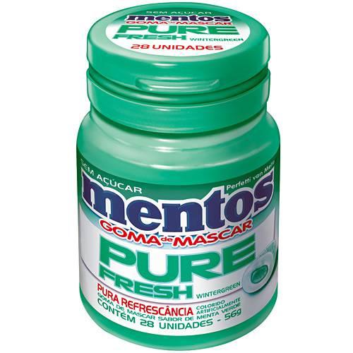 Mentos Pure Fresh - Wintergreen - Unidade 56g - Perfetti Van Melle