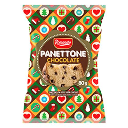 Mini Panettone Gotas de Chocolate 80g - Romanato