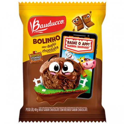 Minibolo Duplo Chocolate 40g - Bauducco