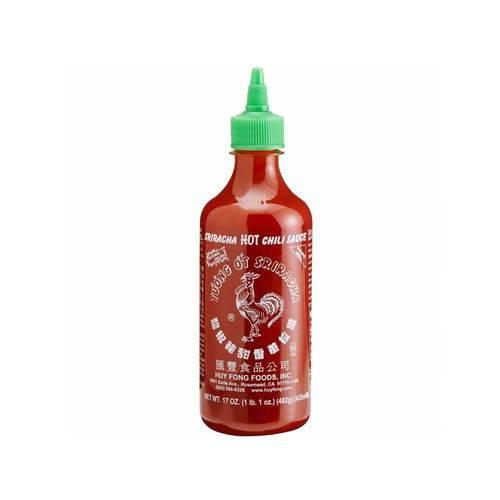 Molho de Pimenta Sriracha Spiracha Hot Chili Sauce Galo Huy Fong Foods