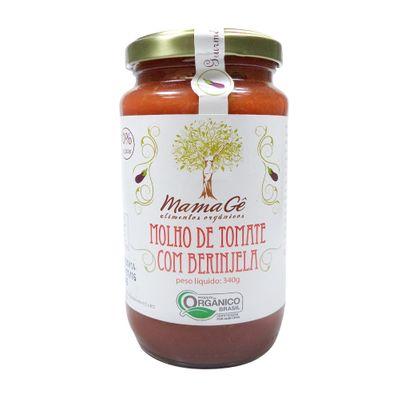 Molho de Tomate com Berinjela Orgânico 340g - MamaGê