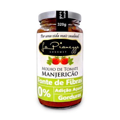 Molho de Tomate Manjericão (fontes de Fibras) 320g - La Pianezza