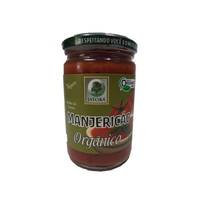 Molho de Tomate Manjericão Orgânico 340g - Jatobá Orgânicos