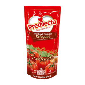 Molho de Tomate Predilecta Refogado Tradicional 340g (Sachê)
