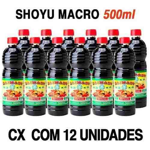 Molho Shoyu Natural Especial Macrobiótico Daimaru Cx12x500ml (atacado)