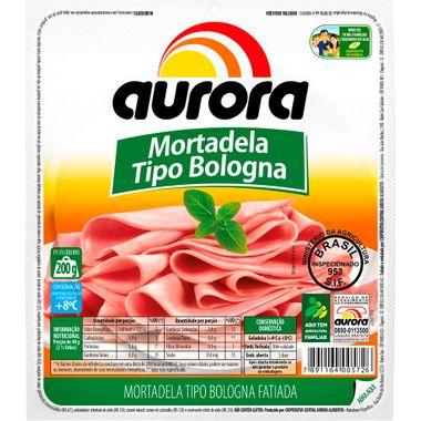 Mortadela Bologna Fatiada Aurora 200g