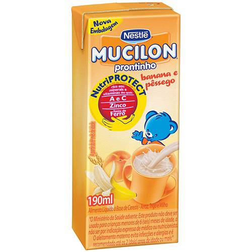 Mucilon Blactea PPB Banana e Pêssego 190ml - Nestlé
