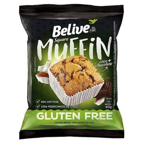 Muffin Coco + Chocolate - Belive - Sem Glúten/sem Lactose - 40g