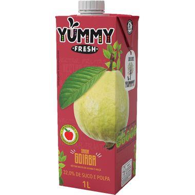 Néctar de Goiaba e Maçã Yummy Fresh 1L