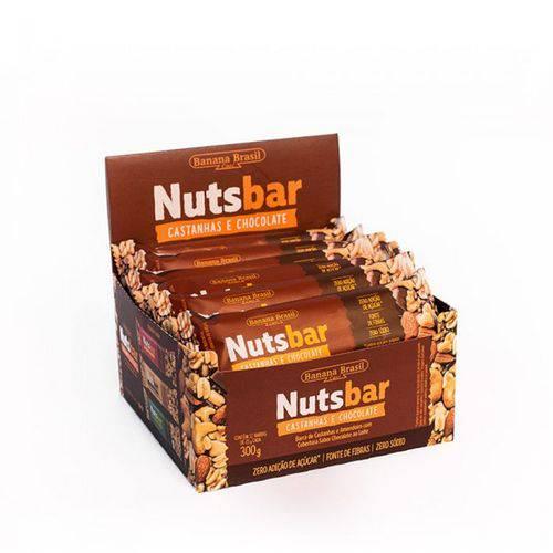 Nutsbar Barra de Castanhas e Chocolate 12Unx25G
