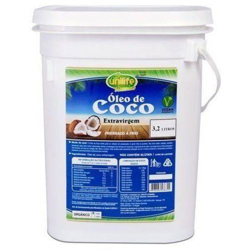 Óleo de Coco Extra Virgem Puro 3,2 Litros Unilife - 100% Natural