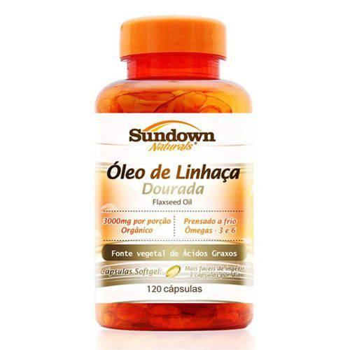Óleo de Linhaça Dourada em Cápsulas Sundown Flaxseed Oil 1000mg C/ 120