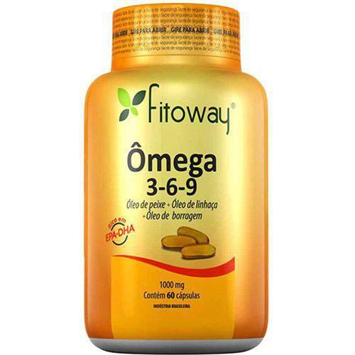 Omega 3-6-9 1000mg - 60 Cápsulas - Fitoway
