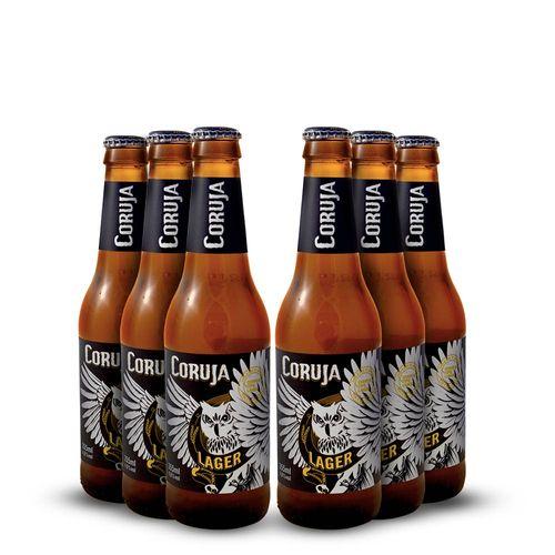 Pack 6 Cerveja Artesanal Corujinha Lager - 330ml