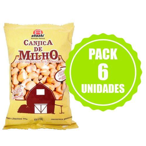 Pack Canjica de Milho com Açúcar Orgânico - 6 Unidades - Okoshi - 50g