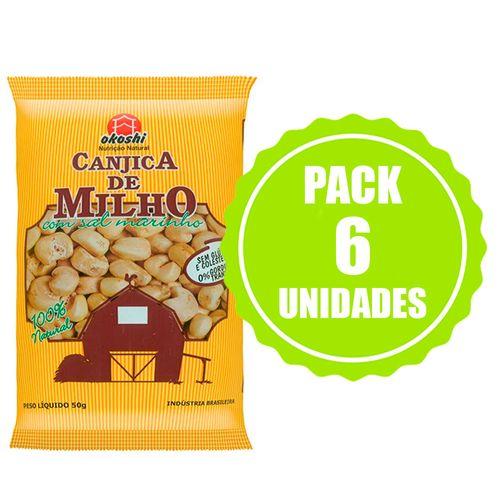 Pack Canjica de Milho com Sal Marinho - 6 Unidades - Okoshi - 50g