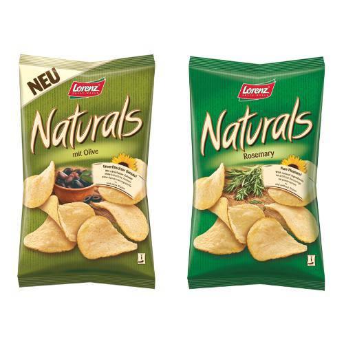 2 Pacotes de Batatas Naturals 100g Sabores( Azeitonas e Alecrim) - Lorenz