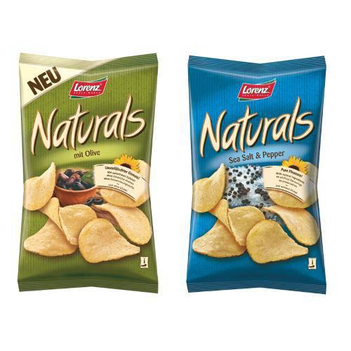 2 Pacotes de Batatas Naturals 100g Sabores( Azeitonas e Pimenta)- Lorenz