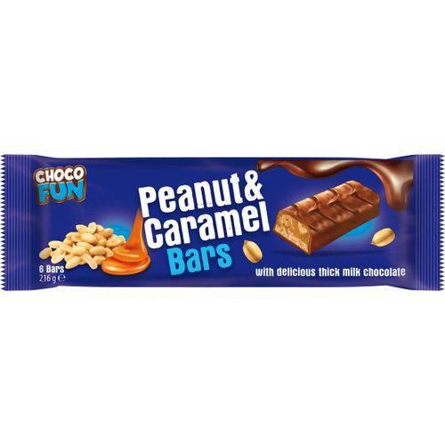 2 Pacotes de Choco Fun Peanut Caramel (6x36g Cada) 216g Cada- Choco Fun