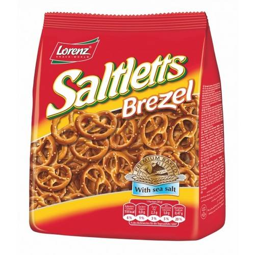 3 Pacotes de Saltletts Brezel 150g - Lorenz