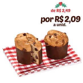 Panetone Delix com Gotas de Chocolate 100g (saco) C/300 Unidades