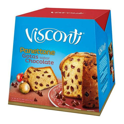 Panetone Gotas de Chocolate 400 Grs Visconti