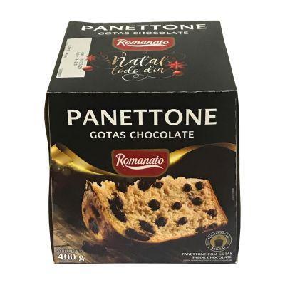 Panettone C/ Gotas de Chocolate 400g Romanato