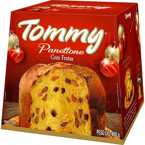 Panettone Frutas 400g - Tommy