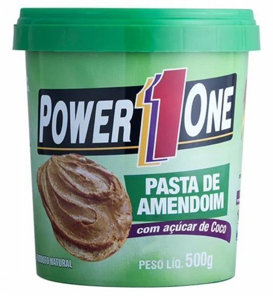 Pasta Amendoim C/ Açúcar de Coco 500Gr - Power1One