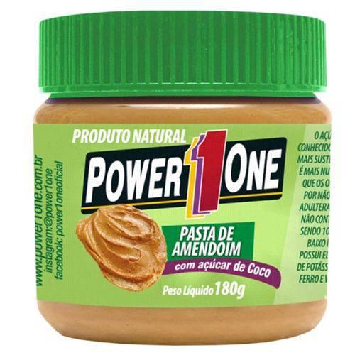 Pasta de Amendoim Açucar de Coco 180g - Power 1 One