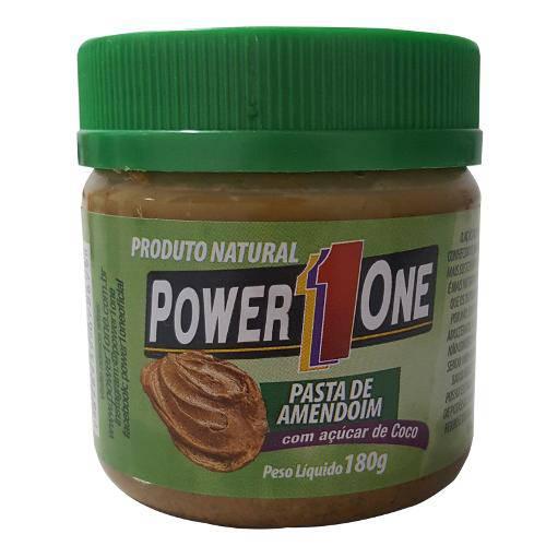 Pasta de Amendoim Açucar de Coco 180g - Power One