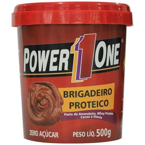 Pasta de Amendoim - Brigadeiro Proteico - 500g - Power One