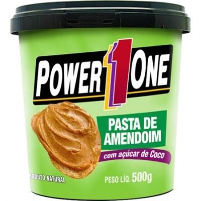 Pasta de Amendoim C/ Açúcar de Coco (500g) Power One - Power 1 One
