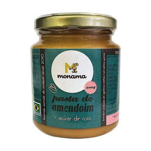 Pasta de Amendoim com Açucar de Coco 200g - Monama