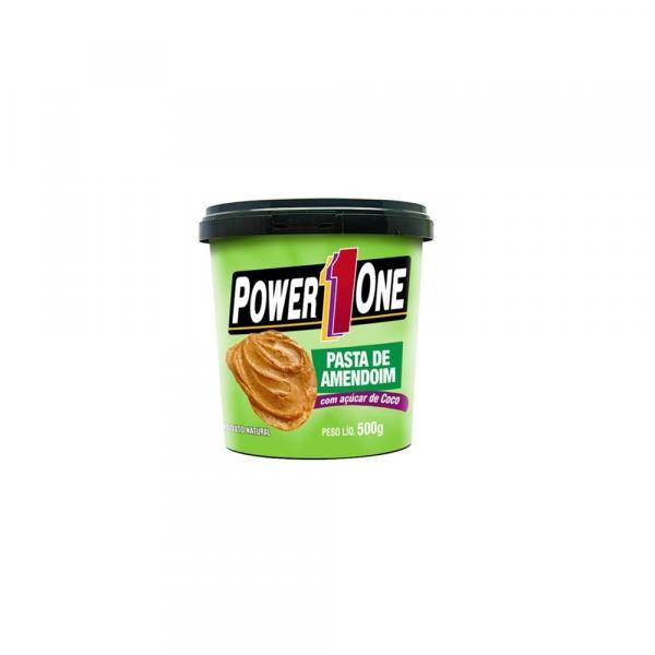 Pasta de Amendoim com Açúcar de Coco (500g) - Power One Sabor:Natural