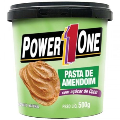 Pasta de Amendoim com Açúcar de Coco - 500g - Power One