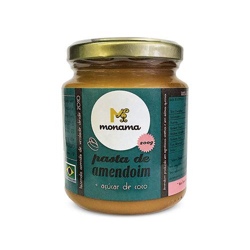 Pasta de Amendoim com Açúcar de Coco Monama 200 G