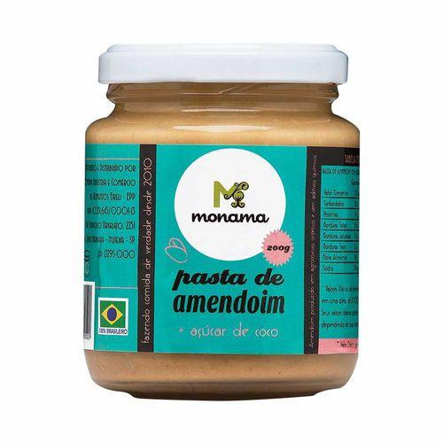 Pasta de Amendoim com Açúcar de Coco - Monama - 200g